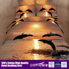 Factory Price Exquisite Design Super Soft King Size Comforter Sets 100% Cotton 3d Bed Cover Set