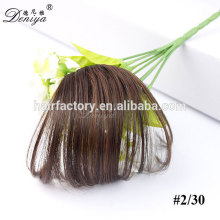 New arrival natural color fashion synthetic fringe easy clip in hair bang