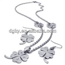 Ensembles de bijoux en trèfle à quatre feuilles Ensembles de bijoux nuptiaux bon marché
