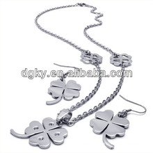 Four Leaf Clover Jewelry Sets Cheap Bridal Jewelry Sets