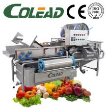 Línea automática de procesamiento de vegetales / ensalada / lavadora de vegetales IQF