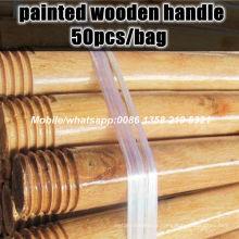 Poignée de balais peinte, poignet en bois peint en bois, poignée à balais peinte à pas cher