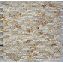 Mosaic Wall Tile, Beige Marble Mosaic (HSM134)