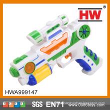 Hot venda crianças plástico elétrico música e brinquedo arma leve