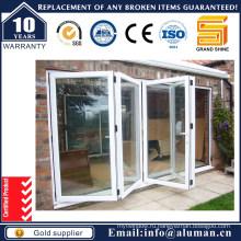 Классическая внешняя двойная стеновая алюминиевая дверь с двойным остеклением 65