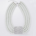 Multi Strand Faux Pearl Necklace Bulk