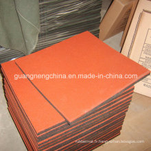 Tuile en caoutchouc industrielle résistante à l'usure de tuile de plancher en caoutchouc de couleur de tuile de plancher de 19.7 '* 19.7'