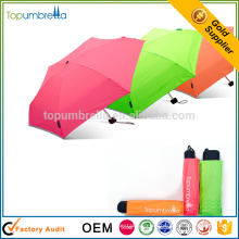 Funky Manual Abrir Pocket Micro Mini Super Light 5 paraguas plegable para la comodidad