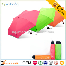Funky Manual Open Pocket Micro Mini Super Light 5 Fold Umbrella For Convenience
