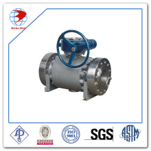 High Pressure Ball Valve Stainless Steel Class 900 API6d Worm Operated Ball Valve