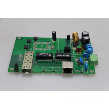gigabit industrial PoE switch PCB board 2 puertos Din-rail 10/100/1000 Base con 1 Gigabit puerto SFP