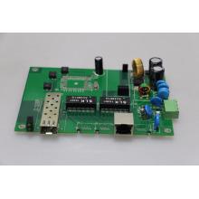 гигабитный промышленный коммутатор PoE базы печатной платы 2 порта DIN-рейку 10/100/1000 с 1 гигабитными портами SFP