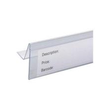 Sujetador de plástico para etiquetas Super Market / tira de datos