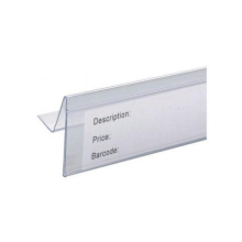 super market plastic label holder/ data strip