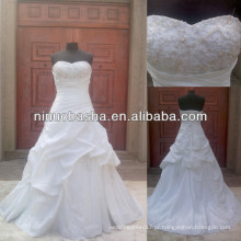 NW-486 Beaded Top Taffeta Real Sample Wedding Dress 2014