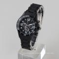 stainless steel watch black color watch men waterproof