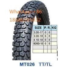 Motocicleta pneumático/moto pneu 99/99-18, 3.00-17, 3.00-18 venda quente padrão