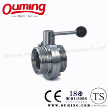 Ss316 Sanitary Manual Threaded Butterfly Valve