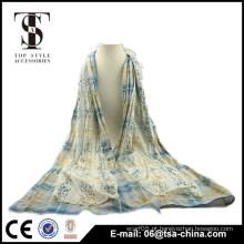 Hot moda feminina algodão rendas cachecol Girl's Long Scarf envoltórios Xaile