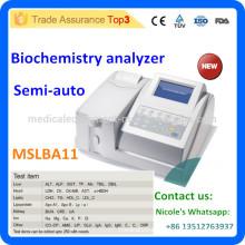 Clinic Semi Auto reactivos abiertos bioquímica analizador MSLBA11i
