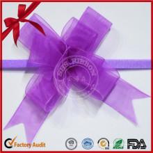 Arc de couleur Sheween Sheer Pull Bow pour femme