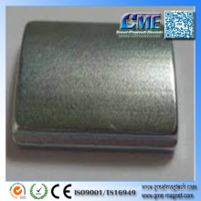 Powerful Arc Segment Magnets Nickel Magnetic Coating