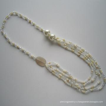Multi Shell & Crystal ожерелье, ювелирные изделия, оптовая ожерелье