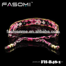 Guangzhou bohemia estilo algodón amistad pulsera