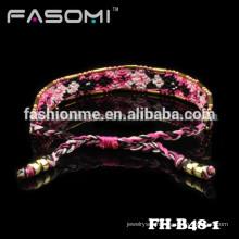 Guangzhou bohemia style cotton friendship charm bracelet