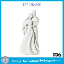 Feliz casal de porcelana dom de casamento