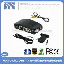 Vídeo Composto AV S-Video RCA para PC Laptop VGA TV conversor adaptador caixa Novo