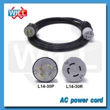 UL CUL 30A 50A NEMA L14-30P cable de alimentación con NEMA L14-30R