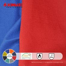 Tissu fonctionnel terylene et coton FR pour vêtements de protection