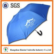 Дешевые цены! Фабрика поставки 2 складной зонтик для оптовых с кривой ручкой