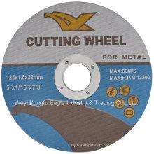 En12413 Disques de coupe abrasifs en résine pour métal