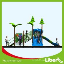 GS Sandard Équipement de parc d'attraction / Type d'acier galvanisé Aire de jeux en plastique pour enfants