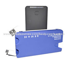Power Banks, Colorful Unique LED Design, 6,000mAh, Built-in Cable Adapter, Smartphone, Tablet