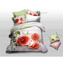 2015 New Hot Selling Products 100% Cotton Bedding Set 3D Luxury Roses China Factory
