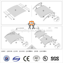 UV coating polycarbonate canopy/polycarbonate awning