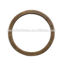 Moda de alta qualidade de metal antigo Bronze anel redondo Flat