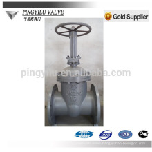 Russia standard rising stem flanged cast steel pn16 chemical pipeline gate valve factory