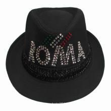 Cheap Short Brim Polyester Fabric Fedora Hats Wholesale