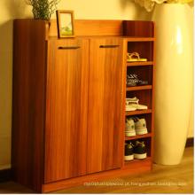 Armário grande da sapata de duas portas, armário da sapata do MDF da melamina