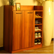 Две двери большой шкаф для обуви, MDF меламина шкаф для обуви