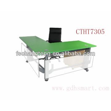 Elbasan & Shkoder & Fier L shape height adjustable office table by manual