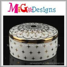 Preço barato moda moderna casa decorativa cerâmica caixa de jóias