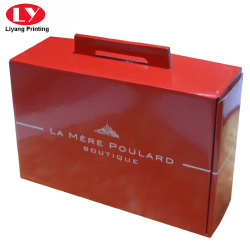 Cusotm printed corrugated food box with punch handle