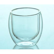 New Pyrex Glass Round Clear Double Wall Glass Coffee Cup