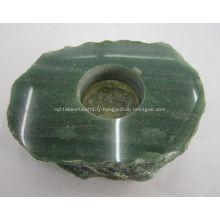 Chandeliers et bougeoirs en pierre précieuse d'aventurine verte
