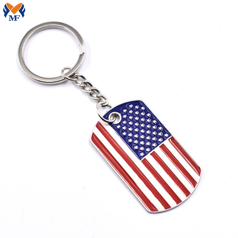 Enamel Color American Flag Keychains